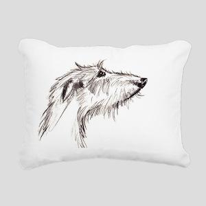 Scruffy Lurcher Rectangular Canvas Pillow