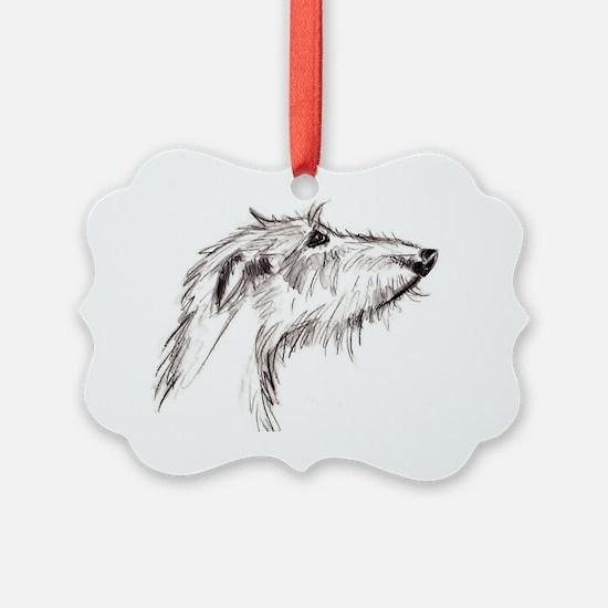 Scruffy Lurcher Ornament