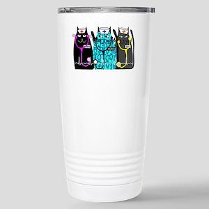 nurse cat NO BACKGROUND Stainless Steel Travel Mug