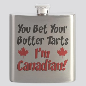Bet Your Butter Tarts Canadian Flask
