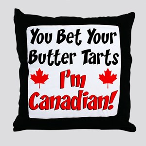 Bet Your Butter Tarts Canadian Throw Pillow