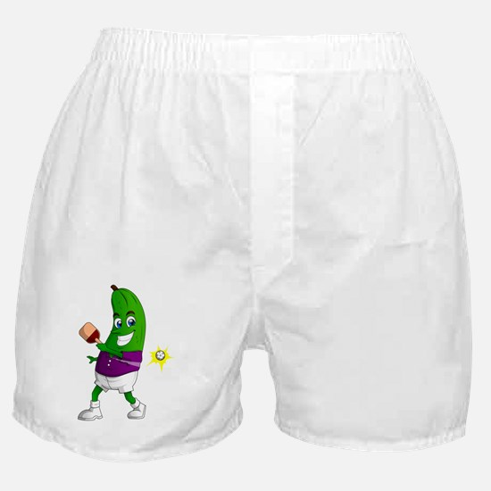 Pickle Playing Pickleball Boxer Shorts