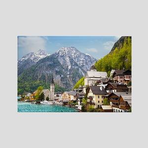 Beautiful summer Alpine Hallstatt Rectangle Magnet