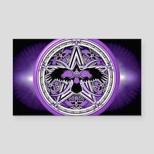Purple Crow Pentacle Banner Rectangle Car Magnet