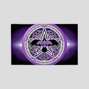 Purple Crow Pentacle Banner 3'x5' Area Rug