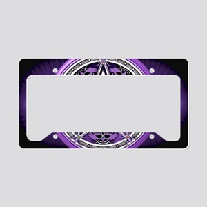 Purple Crow Pentacle Banner License Plate Holder