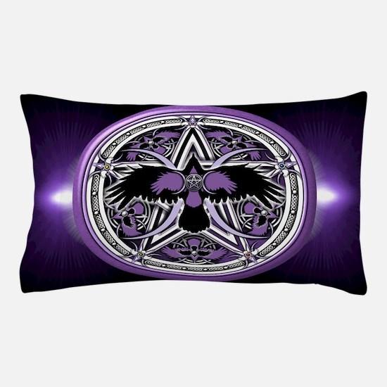 Purple Crow Pentacle Pillow Case