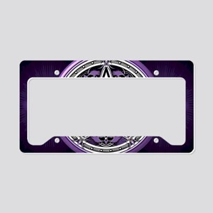 Purple Crow Pentacle License Plate Holder