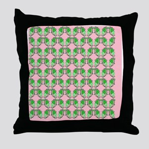 Visual Drama ~ Theatre Masks  Leaves  Throw Pillow