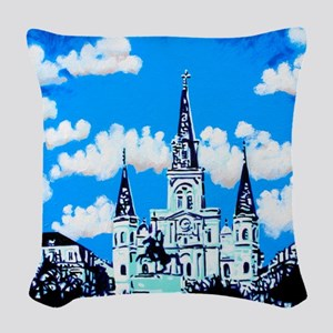 New Orleans is UFO Country #2 Woven Throw Pillow