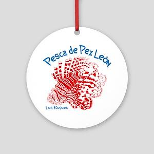 Lionfish Hunt Los Roques Venezuela Round Ornament