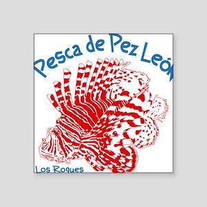 """Lionfish Hunt Los Roques Ve Square Sticker 3"""" x 3"""""""