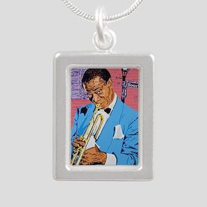 Satchmo on Bourbon Stree Silver Portrait Necklace
