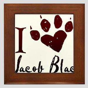 I heart Jacob Black Framed Tile