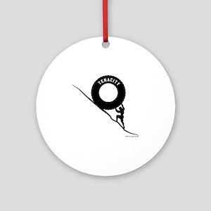 Sisyphus and his legendary Tenacity Round Ornament
