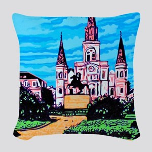 New Orleans is UFO Country #1 Woven Throw Pillow