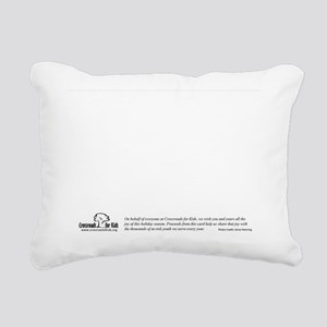 Holiday Greetings from C Rectangular Canvas Pillow
