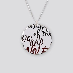 Whos Afraid of the Big Bad W Necklace Circle Charm