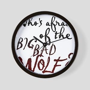 Whos Afraid of the Big Bad Wolf Wall Clock