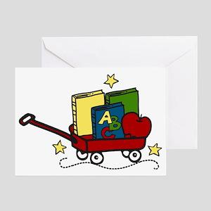 Book Wagon Greeting Card
