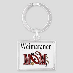 Weimaraner Mom Landscape Keychain