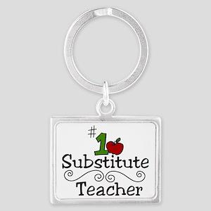 Substitute Teacher Landscape Keychain