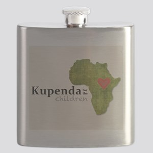 Kupenda Logo (Beige Bkgrd) Flask