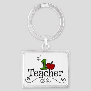School Teacher Landscape Keychain