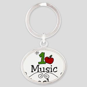 Music Teacher Oval Keychain