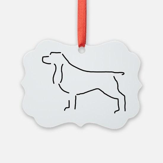 Field Spaniel Sketch Ornament