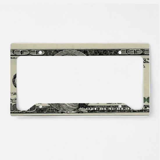 100 Dollar Bill License Plate Holder