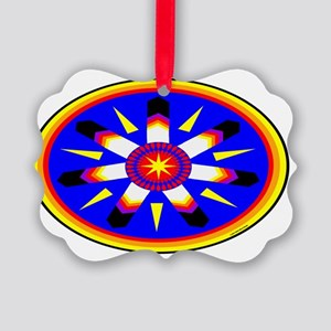 EAGLE FEATHER MEDALLION Picture Ornament