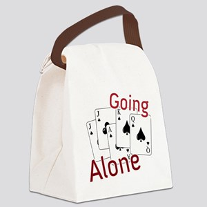 Going Alone Canvas Lunch Bag