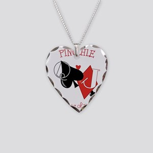 Pinochle Necklace Heart Charm