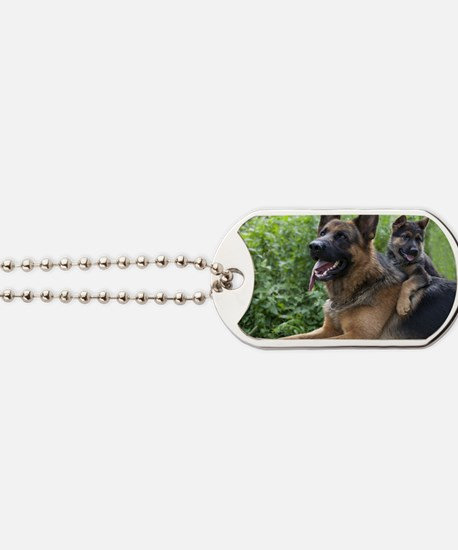 German Shepherd and Puppy Dog Tags