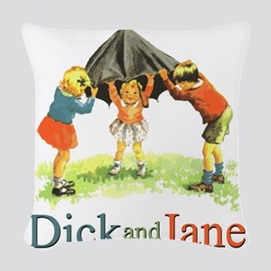 Dick and Jane Woven Throw Pillow