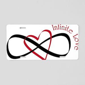 Infinite Love Aluminum License Plate