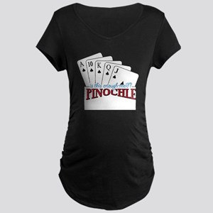 Pinochle Cards Maternity Dark T-Shirt