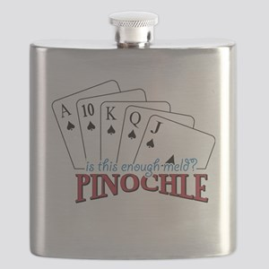 Pinochle Cards Flask