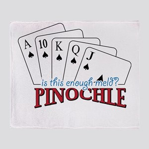 Pinochle Cards Throw Blanket