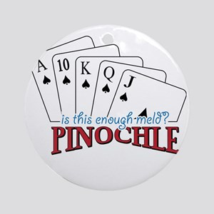 Pinochle Cards Round Ornament