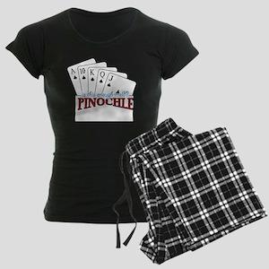 Pinochle Cards Women's Dark Pajamas