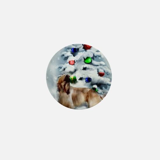 Afghan Hound Christmas Mini Button