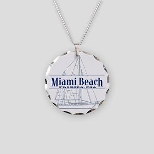 Miami Beach - Necklace Circle Charm