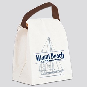 Miami Beach - Canvas Lunch Bag