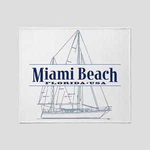 Miami Beach - Throw Blanket