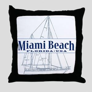 Miami Beach - Throw Pillow