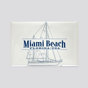 Miami Beach - Rectangle Magnet