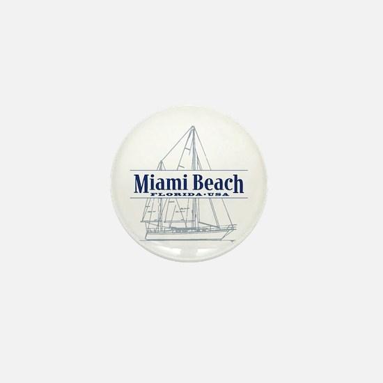 Miami Beach - Mini Button