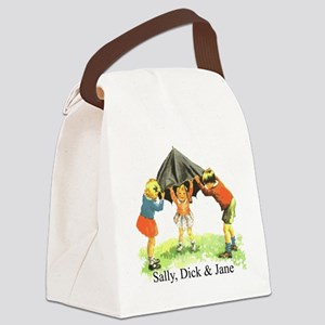 Sally, Dick and Jane Canvas Lunch Bag